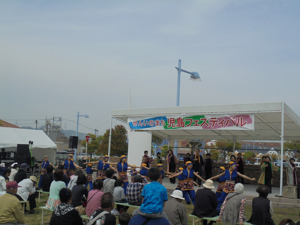 s-⑤児島駅前ステージでのとこはい下津井節