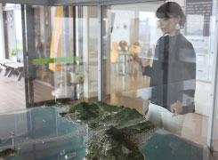 山頂付近の「鷲羽山ビジターセンター」の内部では瀬戸大橋の構造について学べますよ。