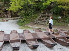 「味野公園」に日本中の珍しい橋(複製)が集結!実際に渡れます。籠とロープで渡る橋も!