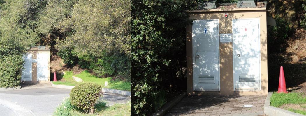 祇園神社駐車場トイレ